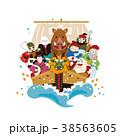 亥年 年賀状素材 亥のイラスト 38563605