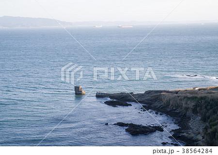 神奈川県 観音崎灯台からの景色 水中聴測所 38564284