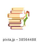ベクトル 女の子 ブックのイラスト 38564488