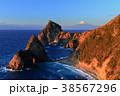 富士山 夕焼け 海の写真 38567296