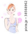 スキンケア ビューティー 女性のイラスト 38568962