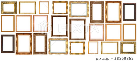Set of golden vintage frame 38569865