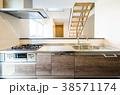 新築一戸建て インテリア キッチンから 38571174