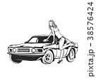 車 自動車 洗うのイラスト 38576424