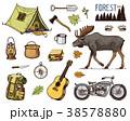 ベクトル 組み合わせ キャンプのイラスト 38578880
