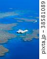 空撮 グレートバリアリーフ 晴れの写真 38581089
