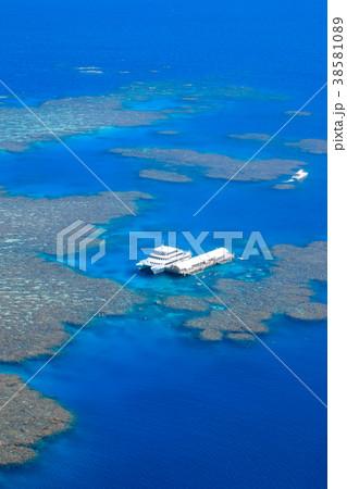 世界遺産グレートバリアリーフの空撮 38581089