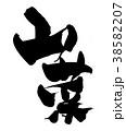 筆文字 毛筆 山菜のイラスト 38582207