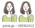 女性 上半身 人物のイラスト 38582412