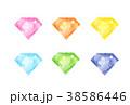 ダイヤ ダイヤモンド 宝石のイラスト 38586446