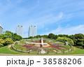 公園 時計 花時計の写真 38588206
