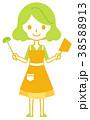 女性 料理 鍋のイラスト 38588913