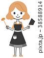 女性 料理 鍋のイラスト 38588914