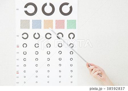 視力検査 女性 眼科 看護師 38592837