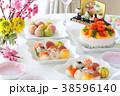 ひな祭り 手まり寿司 ケーキ寿司 38596140