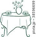 テーブル 庭 ガーデン ティタイム カップ 花瓶 38596699