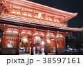 浅草 浅草寺 ライトアップの写真 38597161