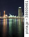夜景 神戸市 神戸港の写真 38600461