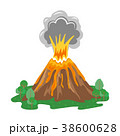 Volcano eruption with smoke and erupting lava 38600628