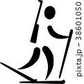 バイアスロン スキー ピクトグラムのイラスト 38601050