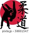柔道 ファイター 人影のイラスト 38601547