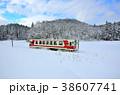 鉄道 雪 列車の写真 38607741