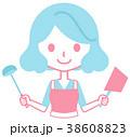 女性 料理 鍋のイラスト 38608823