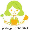 女性 料理 鍋のイラスト 38608824