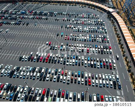 ナガシマスパーランドの駐車場の航空写真 38610515