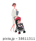 育児 母親 ビジネスウーマンのイラスト 38611311