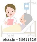 看護 点滴 看護師のイラスト 38611326