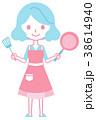 女性 料理 持つのイラスト 38614940