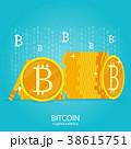 ビットコイン 仮想通貨 コインのイラスト 38615751