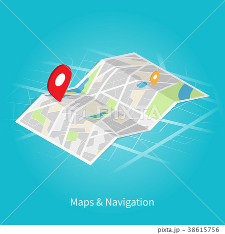 Maps & Navigation isometric vector	 38615756