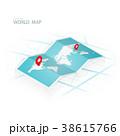 地図 ナビ ナビゲーションのイラスト 38615766
