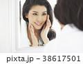 人物 女性 鏡の写真 38617501