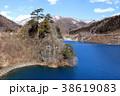奥四万湖 風景 湖の写真 38619083