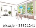 白背景 切り抜き 家庭のイラスト 38621241