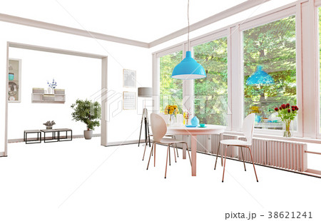 Isolated home interior f 38621241