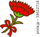 カーネーション 母の日 花のイラスト 38622718