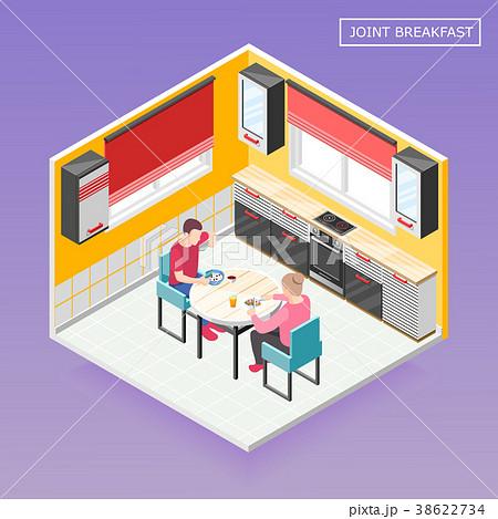 Daily Routine Isometric Composition  38622734