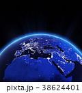 ヨーロッパ 街の灯り 街明かりのイラスト 38624401