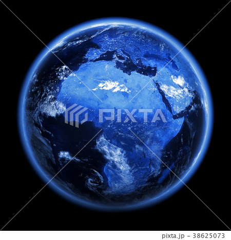 Africa and Europe city lights 3d rendering 38625073