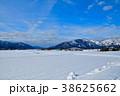 勝山市 雪原 雪山の写真 38625662