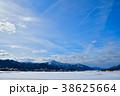 勝山市 雪原 雪山の写真 38625664