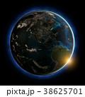 米国 惑星 夕日のイラスト 38625701