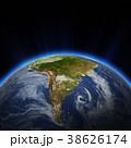 南米大陸 街の灯り 街明かりのイラスト 38626174