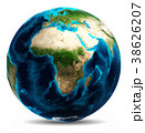 地球 ホワイト 白のイラスト 38626207