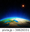 Earth from space 3d rendering 38626331
