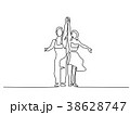 Couple man and woman dancing 38628747
